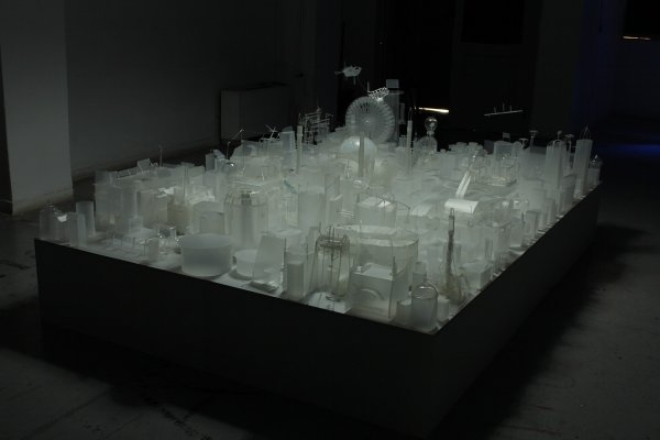 Lefteris Kiourtsoglou – Factory, 2011, various plastic materials, 2 x 3 x 0,40 m