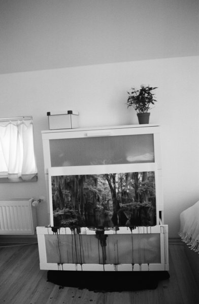 Lucia Sceranková – Chest of drawers, 2011, black and white photograph on paper, 120 x 80 cm