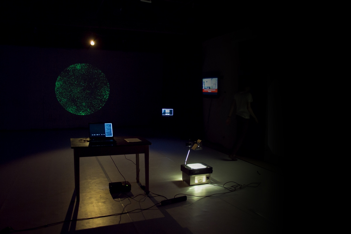 Michal Šimonfy – Life of your Words, 2011, multimedia installation
