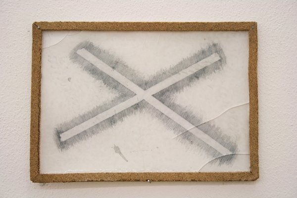 Patrik Kriššák – Cross, 2010, drawing in epoxy resin, A4