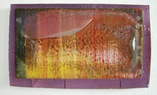 Patrik Kriššák – Untitled, 2011, oil on canvas in epoxy resin, 35x21cm