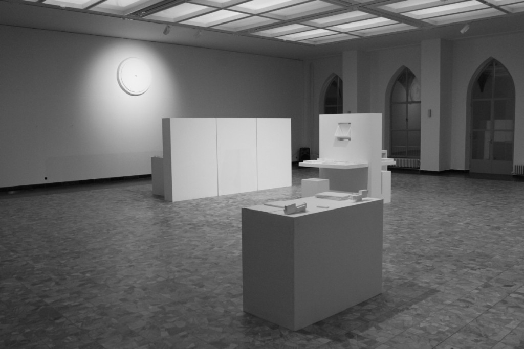 Fen de Villiers – First Case Scenario, 2012, Exhibition and Performance (together with Florian Tomball), performed at the Royal Academy of Fine Arts in Antwerp in January 30 to February 2, 2012
