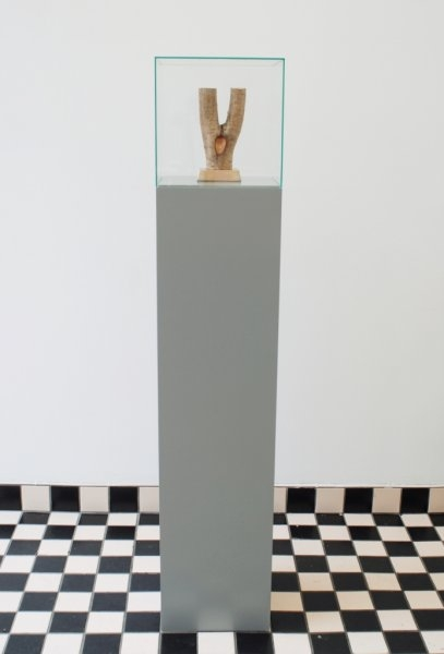 Camilla Skibrek – Licking My Way Through Wood, 2011–2012,  wood, bronze,  25 x 12 x 9 cm