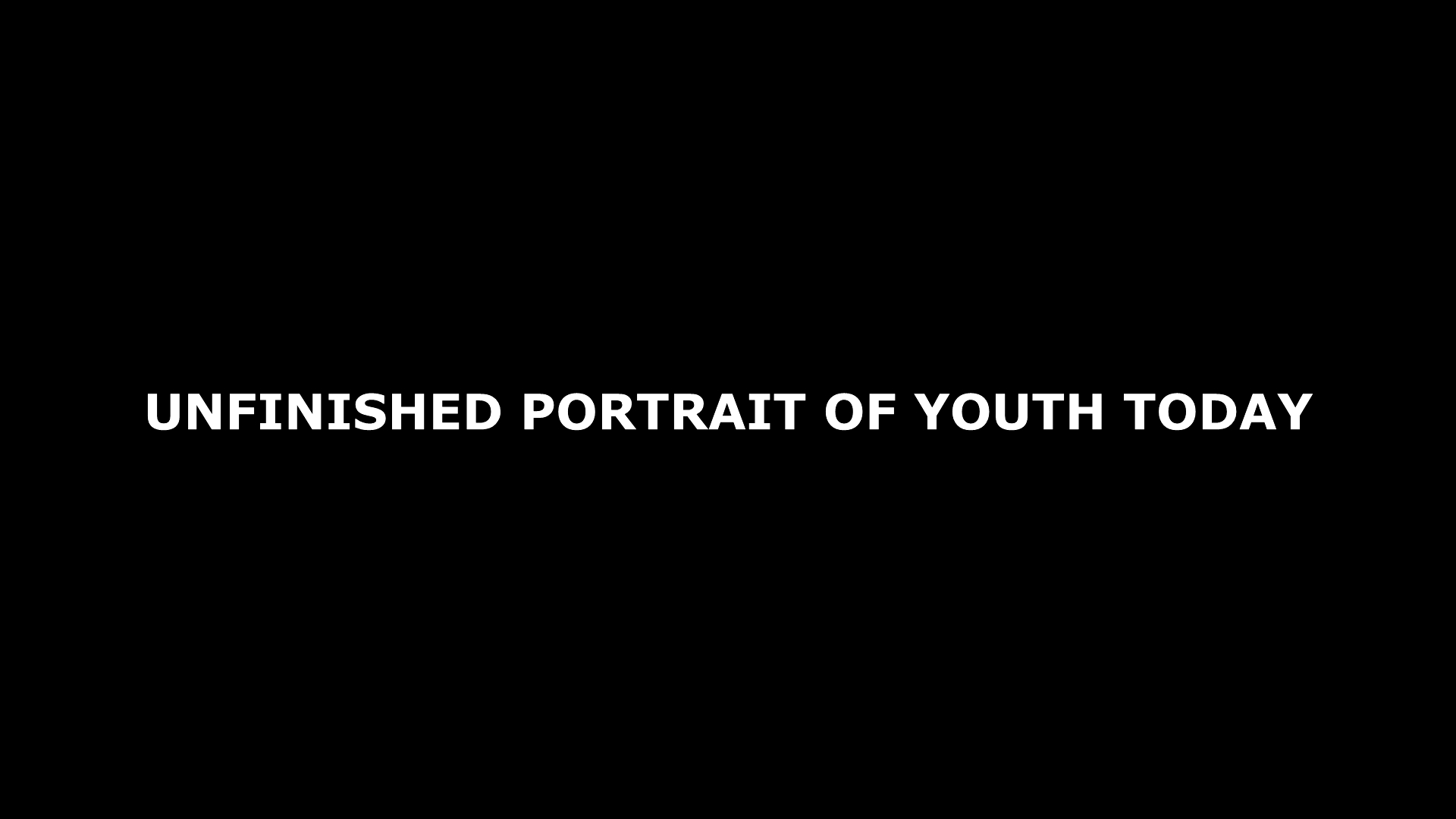 David Mikulan – Unfinished Portrait of Youth Today, video, 8'57''